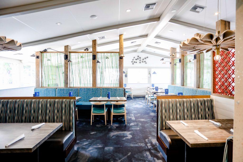 Interior of Lock N Key restaurant - daytime