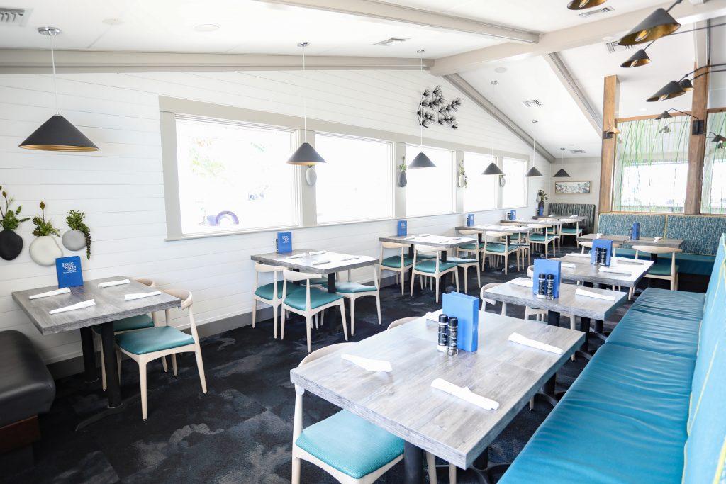 tables at Lock N Key restaurant