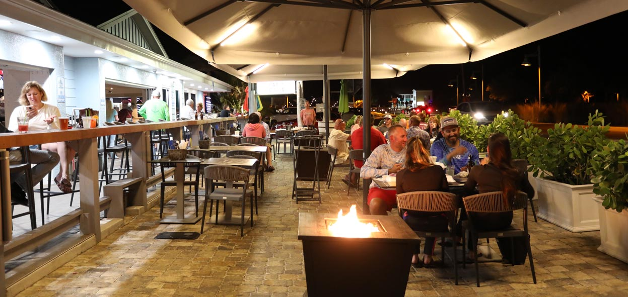 Our Restaurant Patio at Night