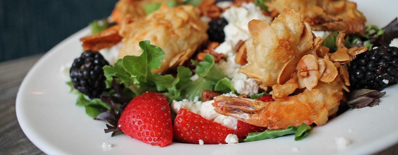 Almond Tempura Shrimp Berry Salad